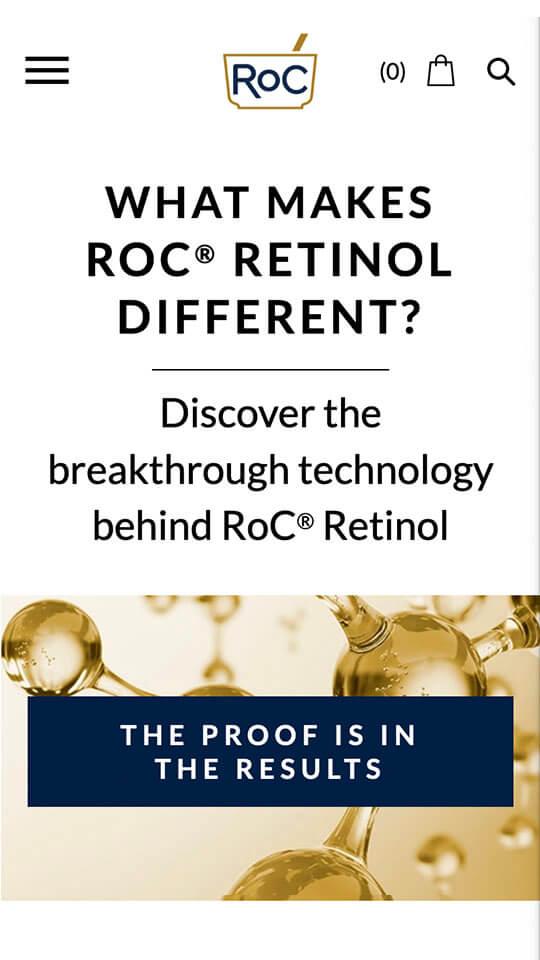Roc Skincare screen 3